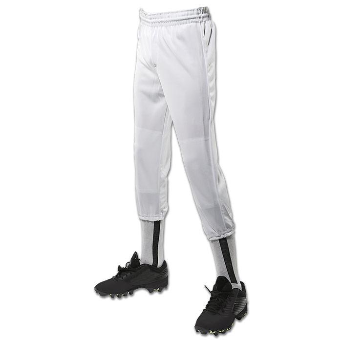 Champro-Youth-Performance-Pull-Up-Baseball-Pant-White-Large